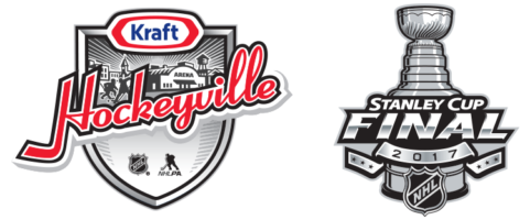 Kraft hockeyville and Stanley Cup logo