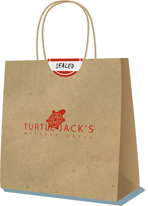 Turtle Jack's takeout bag
