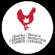 Raised by a Canadian Farmer Logo