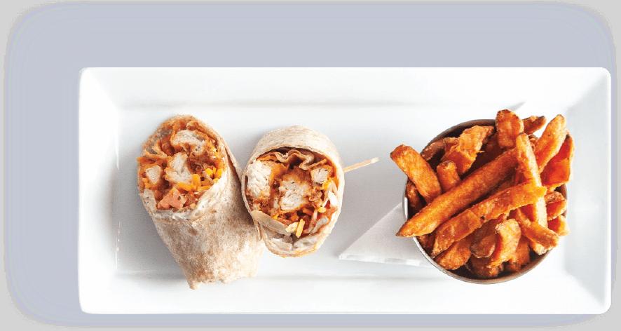 plate-buffalo-chicken-wrap
